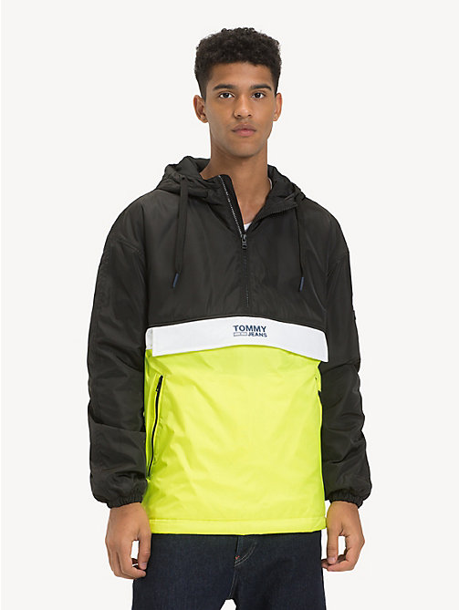 TOMMY JEANS Hooded Pullover Jacket - TOMMY BLACK / MULTI - TOMMY JEANS Coats & Jackets - main image