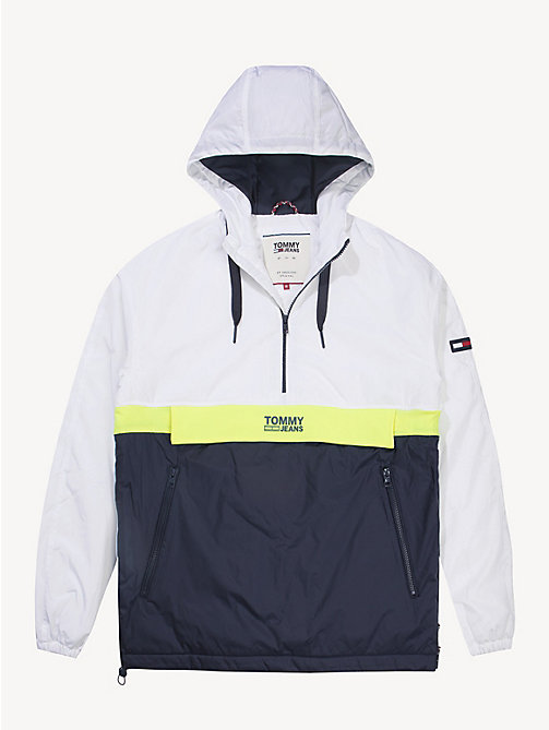 TOMMY JEANS Hooded Pullover Jacket - CLASSIC WHITE/MULTI - TOMMY JEANS Coats & Jackets - detail image 1
