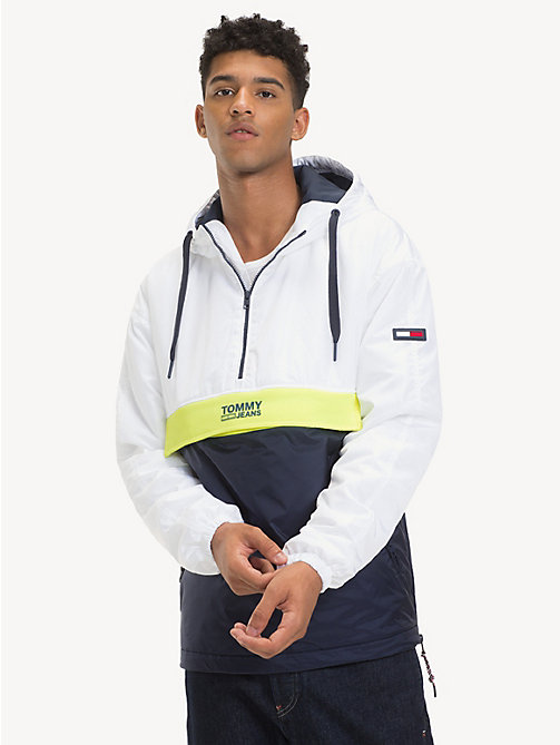TOMMY JEANS Hooded Pullover Jacket - CLASSIC WHITE/MULTI - TOMMY JEANS Coats & Jackets - main image