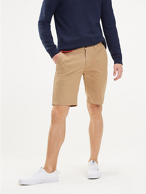 TOMMY JEANS Regular Fit Chino-Shorts - TIGER'S EYE - TOMMY JEANS Hosen & Shorts - main image