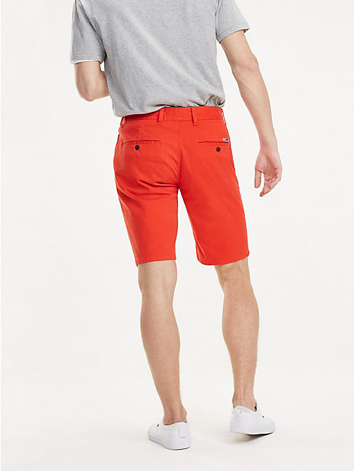 TOMMY JEANS Regular Chino Shorts - FLAME SCARLET - TOMMY JEANS Trousers & Shorts - detail image 1