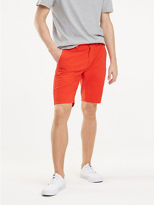 TOMMY JEANS Regular Chino Shorts - FLAME SCARLET - TOMMY JEANS Trousers & Shorts - main image