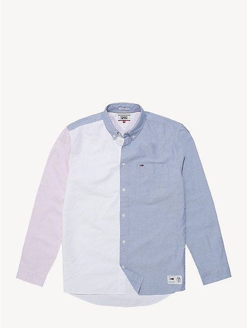 TOMMY JEANS Colour-blocked Oxford-overhemd - BLACK IRIS / CLASSIC WHITE - TOMMY JEANS Overhemden - detail image 1