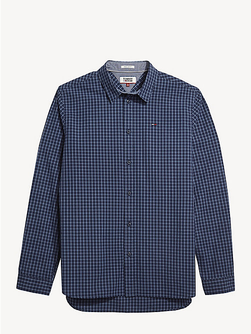 TOMMY JEANS Essential Plaid Shirt - BLACK IRIS / MULTI - TOMMY JEANS Shirts - detail image 1