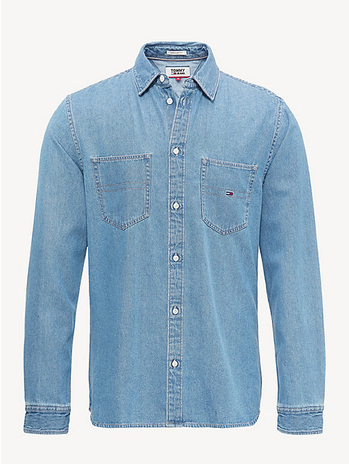 TOMMY JEANS Denim Pocket Shirt - MID INDIGO - TOMMY JEANS Shirts - detail image 1