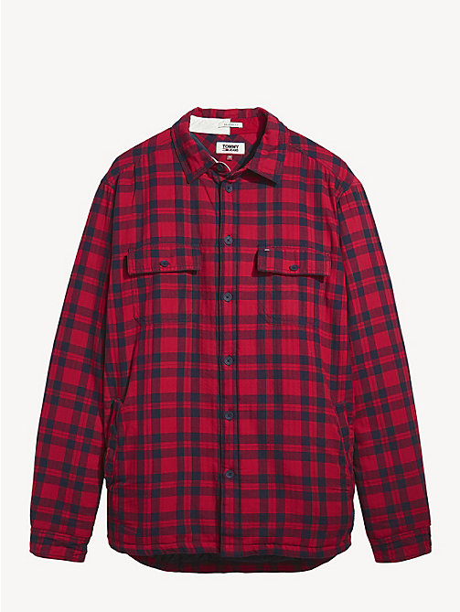 TOMMY JEANS Cotton Padded Check Shirt - SAMBA / BLACK IRIS - TOMMY JEANS Shirts - detail image 1