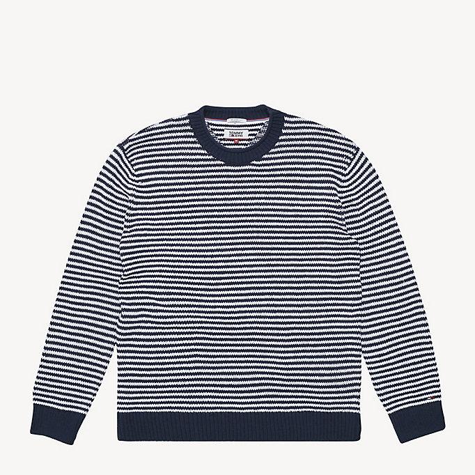 3caf1a7c86c6be Gestreifter Pullover aus reiner Baumwolle   BLACK IRIS / CLASSIC ...