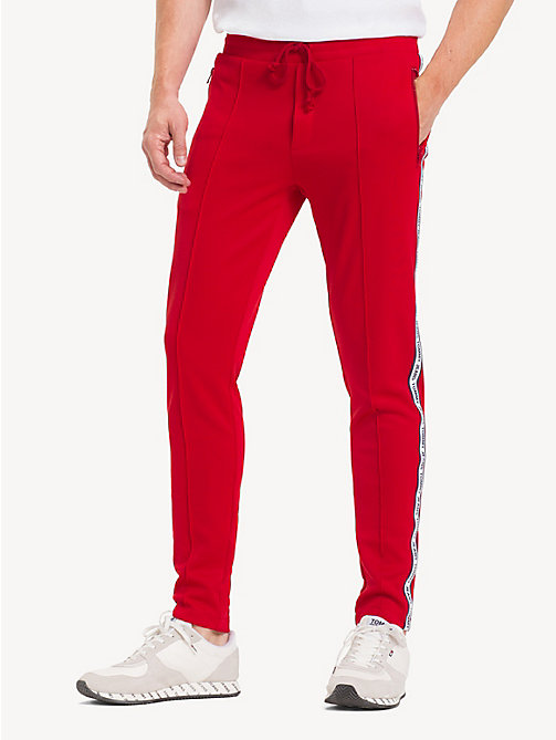 TOMMY JEANS Slim Logo Tape Joggers - SAMBA - TOMMY JEANS Trousers & Shorts - main image