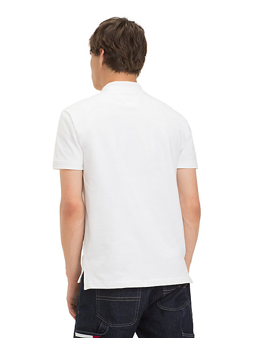 TOMMY JEANS Tommy Jeans Placket Polo Shirt - CLASSIC WHITE - TOMMY JEANS T-Shirts & Polos - detail image 1