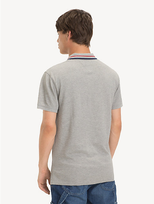 TOMMY JEANS Polo con colletto iconico Tommy Classics - LT GREY HTR - TOMMY JEANS T-Shirts & Polos - dettaglio immagine 1