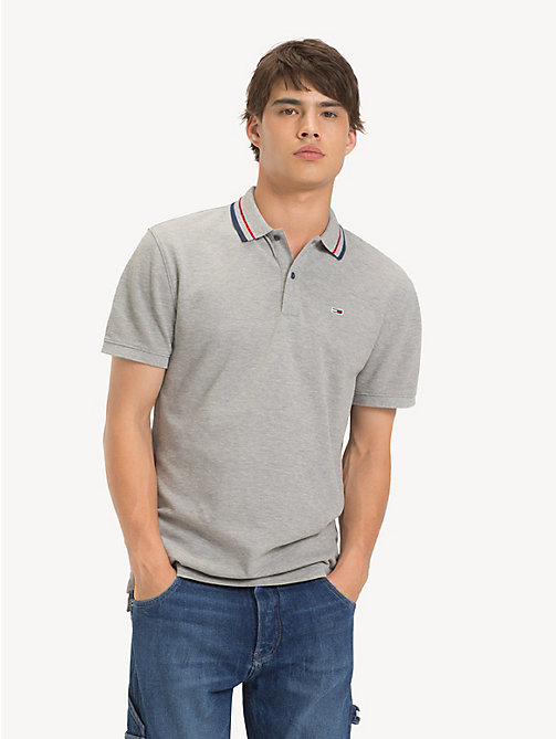 TOMMY JEANS Polo con colletto iconico Tommy Classics - LT GREY HTR - TOMMY JEANS T-Shirts & Polos - immagine principale