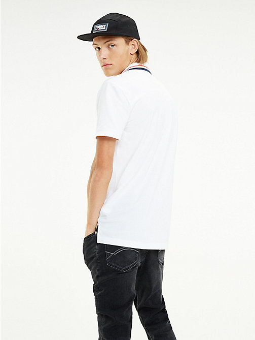 TOMMY JEANS Polo con colletto iconico Tommy Classics - CLASSIC WHITE - TOMMY JEANS T-Shirts & Polos - dettaglio immagine 1