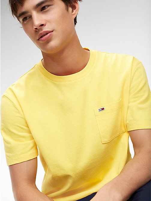 TOMMY JEANS Tommy Classics Pocket T-Shirt - ASPEN GOLD - TOMMY JEANS Sustainable Evolution - main image