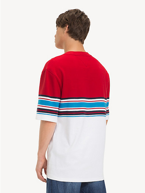 TOMMY JEANS Oversized Fit Stripe T-Shirt - SAMBA MULTI - TOMMY JEANS T-Shirts & Polos - detail image 1
