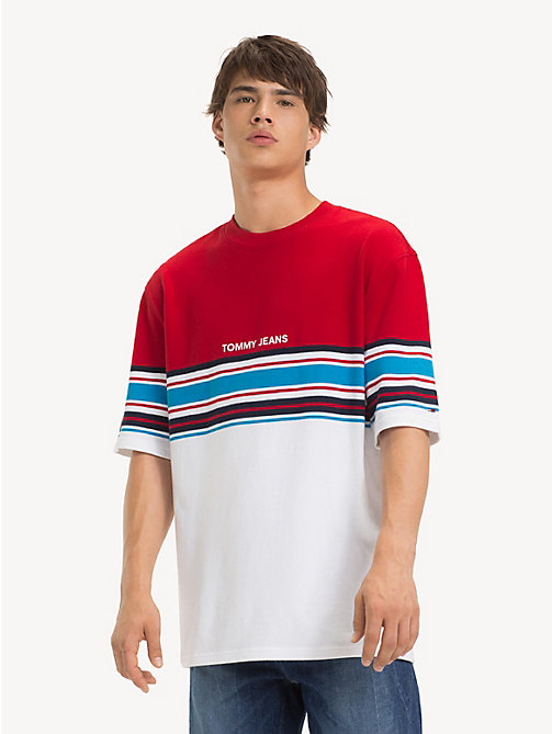 TOMMY JEANS Oversized Fit Stripe T-Shirt - SAMBA MULTI - TOMMY JEANS T-Shirts & Polos - main image