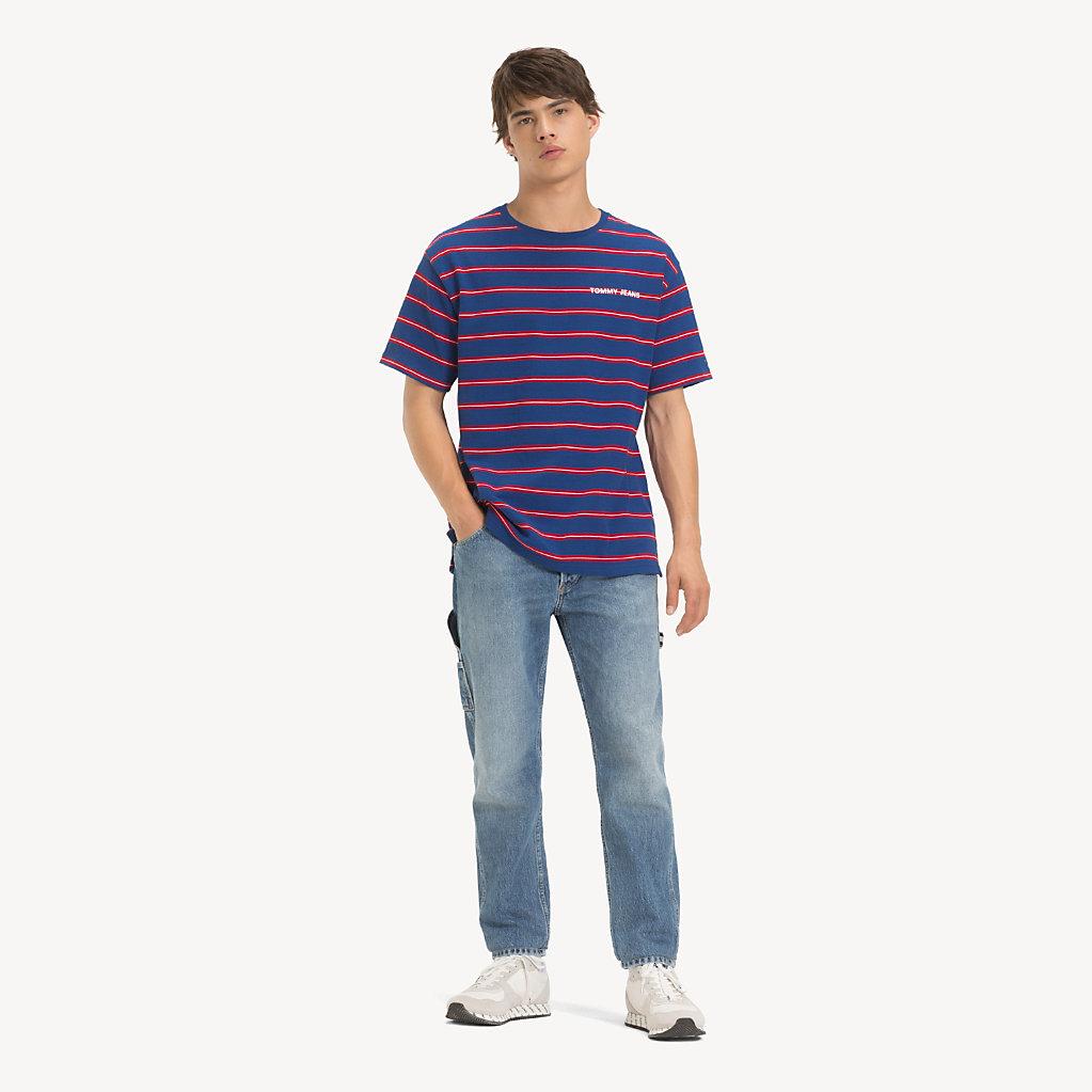Tommy Hilfiger - T-Shirt mit mehrfarbigen Streifen - 3