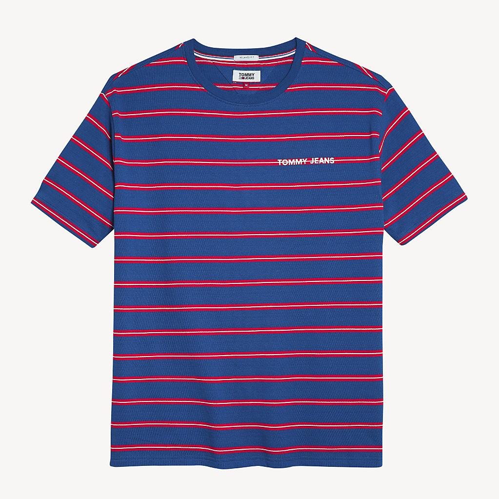 Tommy Hilfiger - T-Shirt mit mehrfarbigen Streifen - 4