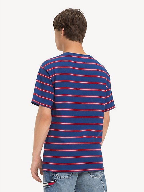 TOMMY JEANS Cotton Multi Stripe T-Shirt - LIMOGES / MULTI - TOMMY JEANS T-Shirts & Polos - detail image 1