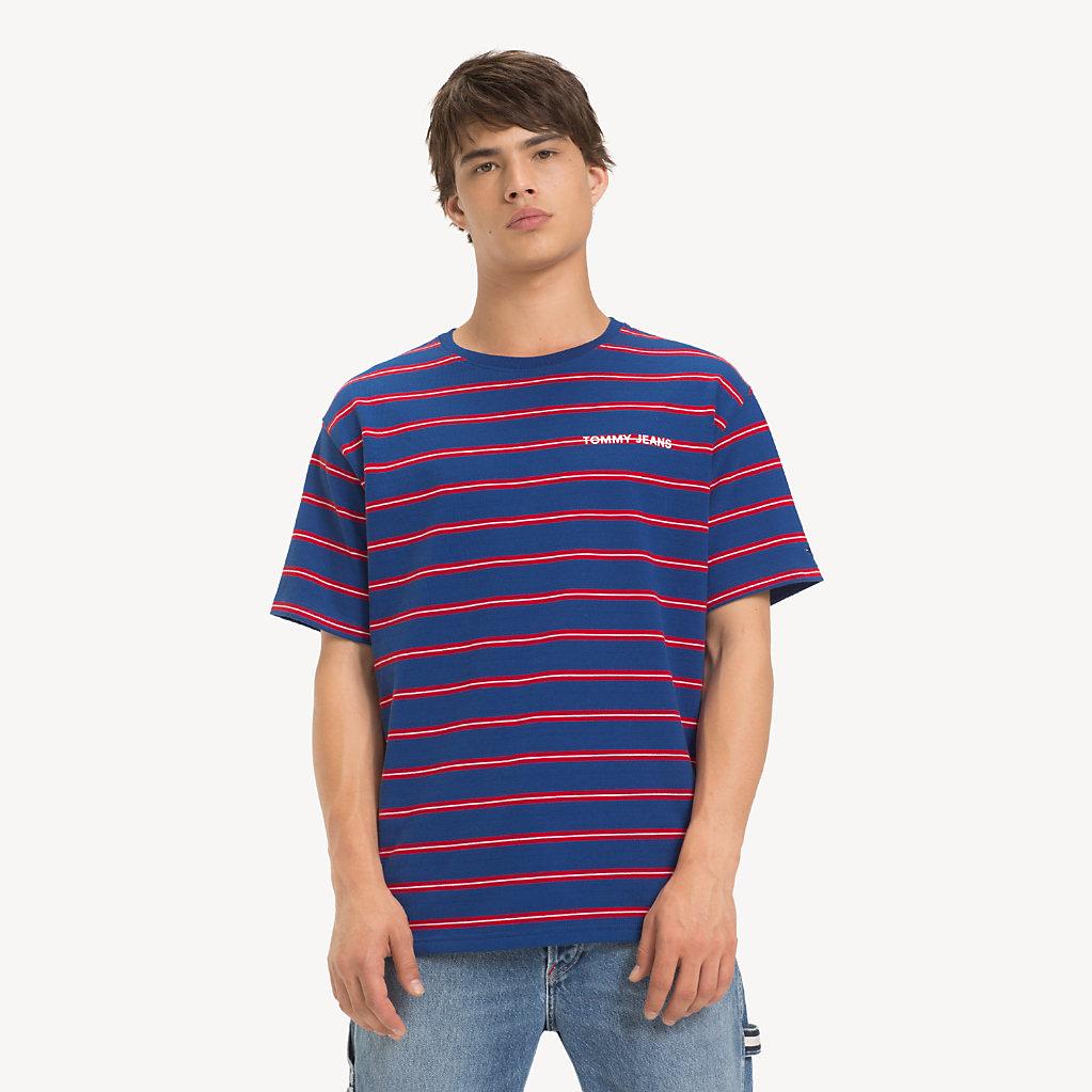 Tommy Hilfiger - T-Shirt mit mehrfarbigen Streifen - 1
