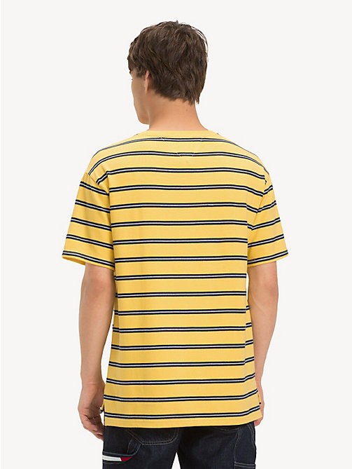 TOMMY JEANS Cotton Multi Stripe T-Shirt - ASPEN GOLD / MULTI - TOMMY JEANS T-Shirts & Polos - detail image 1