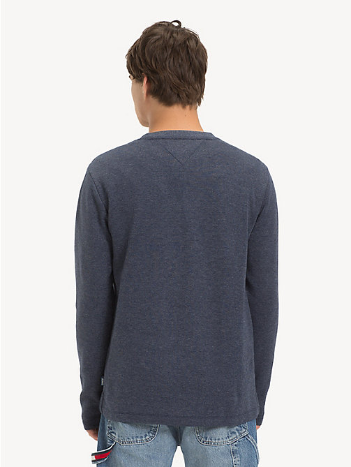 TOMMY JEANS Ribbed Long Sleeve T-Shirt - BLACK IRIS - TOMMY JEANS T-Shirts & Polos - detail image 1