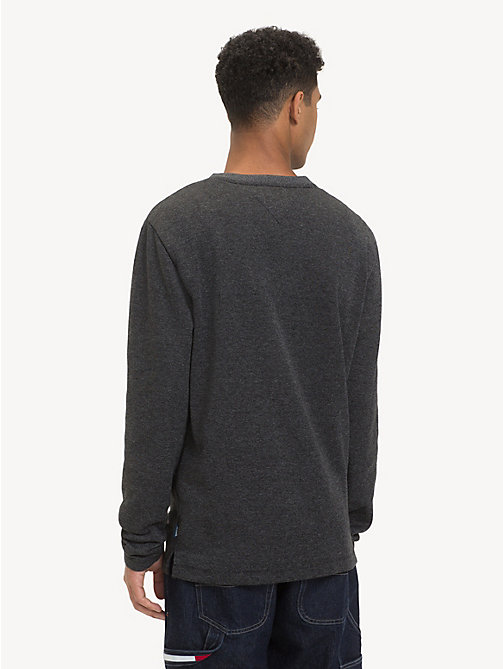 TOMMY JEANS Ribbed Long Sleeve T-Shirt - TOMMY BLACK - TOMMY JEANS T-Shirts & Polos - detail image 1