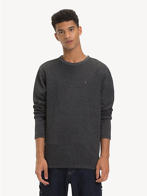 TOMMY JEANS Ribbed Long Sleeve T-Shirt - TOMMY BLACK - TOMMY JEANS T-Shirts & Polos - main image
