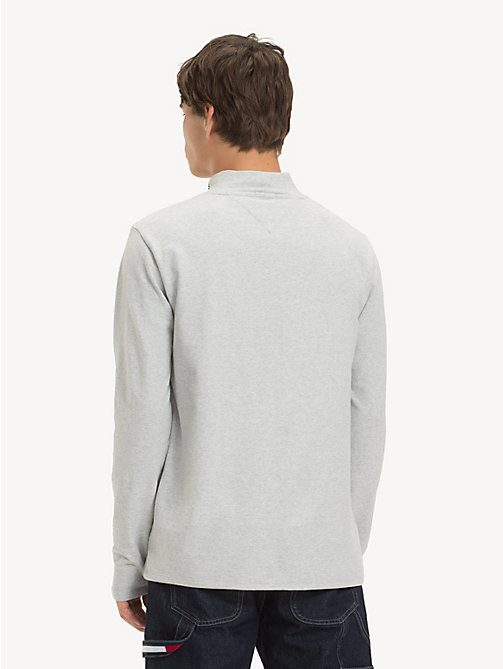 TOMMY JEANS T-shirt con collo a lupetto - LT GREY HTR - TOMMY JEANS T-Shirts & Polos - dettaglio immagine 1