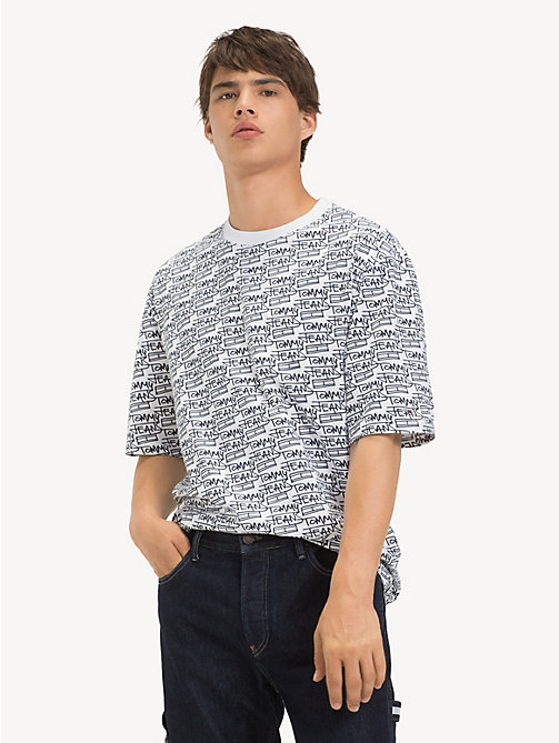 TOMMY JEANS T-shirt oversize - SIGNATURE AOP / CLASSIC WHITE - TOMMY JEANS T-Shirts & Polos - immagine principale