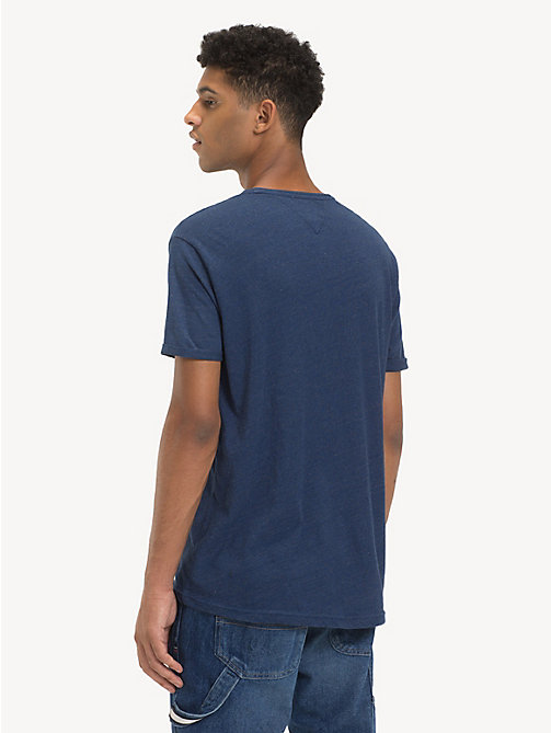 TOMMY JEANS Regular Fit Heathered T-Shirt - LIMOGES BLUE HTR - TOMMY JEANS T-Shirts & Polos - detail image 1