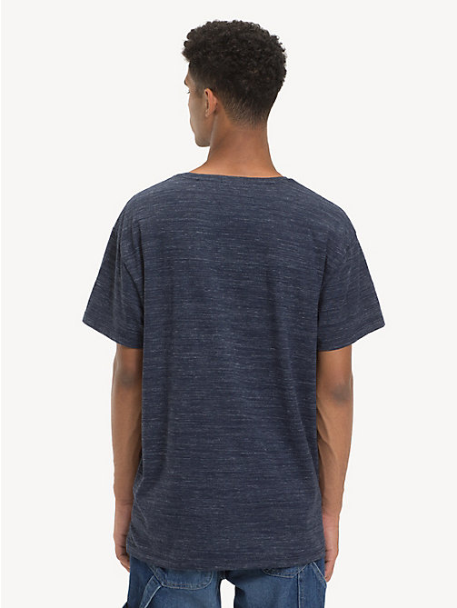 TOMMY JEANS Relaxed Fit Heathered T-Shirt - BLACK IRIS - TOMMY JEANS T-Shirts & Polos - detail image 1