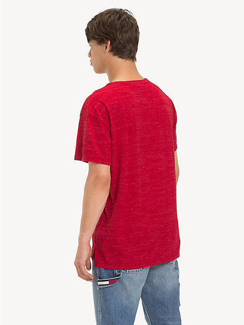 TOMMY JEANS Relaxed Fit Heathered T-Shirt - SAMBA - TOMMY JEANS T-Shirts & Polos - detail image 1