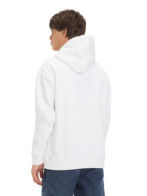 TOMMY JEANS Fleece Tommy Jeans Logo Hoody - CLASSIC WHITE - TOMMY JEANS Sweatshirts & Hoodies - detail image 1
