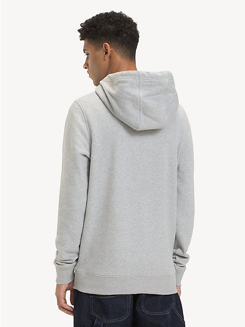 TOMMY JEANS Cotton Logo Hoody - LT GREY HTR - TOMMY JEANS Sweatshirts & Hoodies - detail image 1