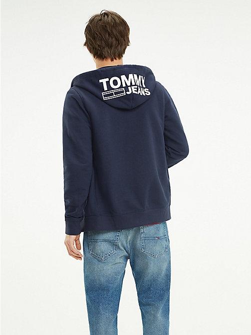 64cb5d452f2c ... Kapuzenpullover TOMMY JEANS Hoodie mit Logo und Reißverschluss - BLACK  IRIS - TOMMY JEANS Sweatshirts   Kapuzenpullover