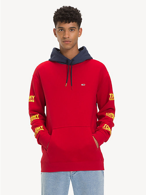 TOMMY JEANS Graphic Cotton Blend Hoody - SAMBA - TOMMY JEANS Sweatshirts & Hoodies - detail image 1