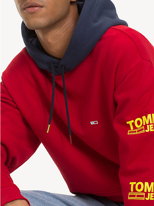 TOMMY JEANS Graphic Cotton Blend Hoody - SAMBA - TOMMY JEANS Sweatshirts & Hoodies - main image