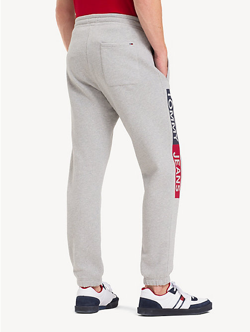 TOMMY JEANS Regular Fit Joggers - LT GREY HTR - TOMMY JEANS Trousers & Shorts - detail image 1