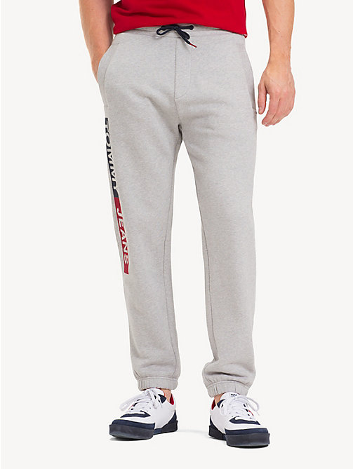 TOMMY JEANS Regular Fit Joggers - LT GREY HTR - TOMMY JEANS Trousers & Shorts - main image