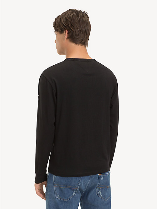TOMMY JEANS Long Sleeve Logo T-Shirt - TOMMY BLACK - TOMMY JEANS T-Shirts & Polos - detail image 1