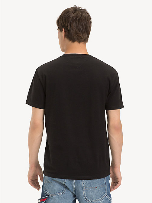 TOMMY JEANS Cotton Embossed Logo T-Shirt - TOMMY BLACK - TOMMY JEANS T-Shirts & Polos - detail image 1