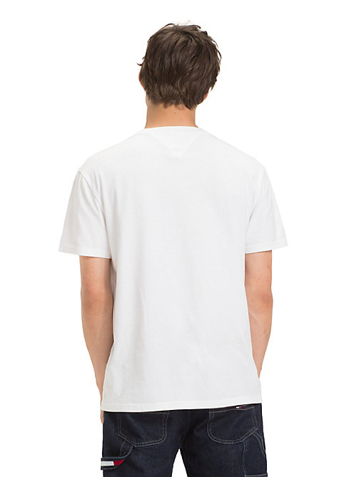 TOMMY JEANS Cotton Embossed Logo T-Shirt - CLASSIC WHITE - TOMMY JEANS T-Shirts & Polos - detail image 1