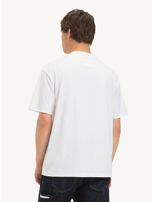 TOMMY JEANS T-shirt in cotone con logo Tommy Jeans - CLASSIC WHITE - TOMMY JEANS T-Shirts & Polos - dettaglio immagine 1