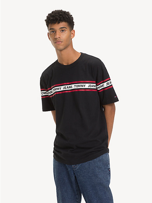 TOMMY JEANS Tommy Jeans Logo Tape T-Shirt - TOMMY BLACK - TOMMY JEANS T-Shirts & Polos - main image