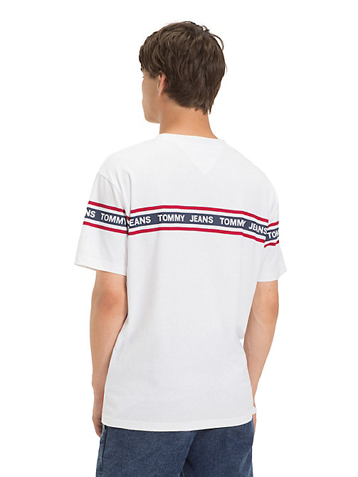 TOMMY JEANS Tommy Jeans Logo Tape T-Shirt - CLASSIC WHITE - TOMMY JEANS T-Shirts & Polos - detail image 1