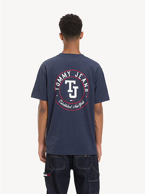TOMMY JEANS Pure Cotton Monogram T-Shirt - BLACK IRIS - TOMMY JEANS T-Shirts & Polos - detail image 1