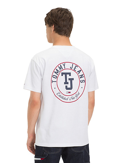 TOMMY JEANS Pure Cotton Monogram T-Shirt - CLASSIC WHITE - TOMMY JEANS T-Shirts & Polos - detail image 1
