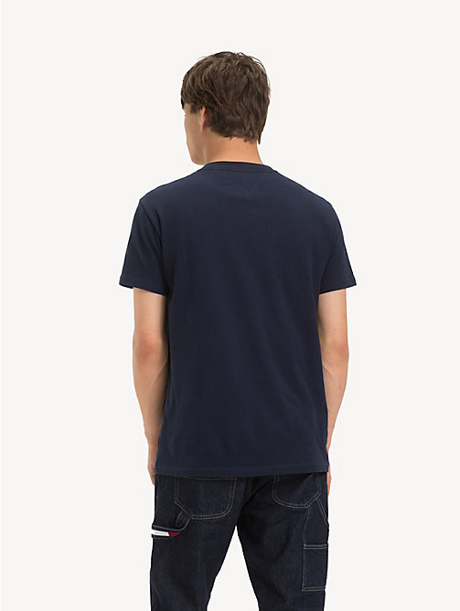 TOMMY JEANS Colour-Blocked Panel T-Shirt - BLACK IRIS - TOMMY JEANS T-Shirts & Polos - detail image 1