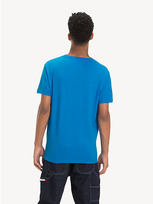 TOMMY JEANS Colour-Blocked Panel T-Shirt - BRILLIANT BLUE - TOMMY JEANS T-Shirts & Polos - detail image 1