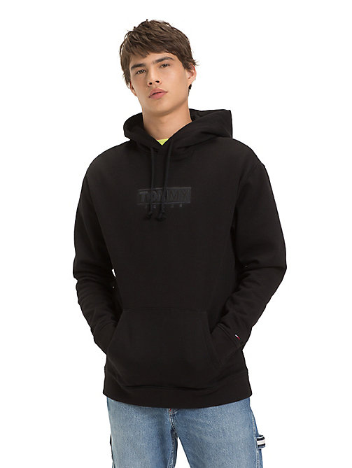 TOMMY JEANS Fleece Embroidered Hoody - TOMMY BLACK - TOMMY JEANS Sweatshirts & Hoodies - main image